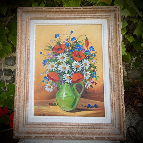 Signed French oil painting In original frame