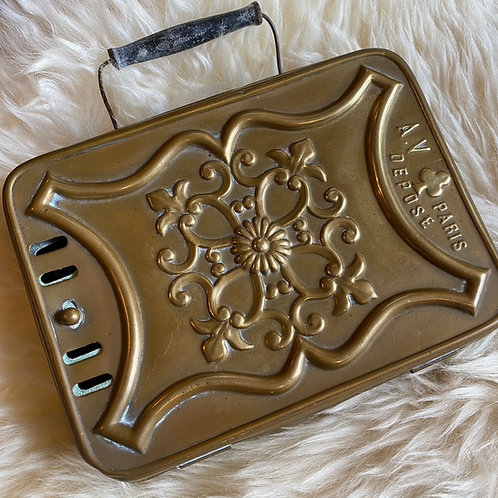 French antique brass boudoir warmer from Paris