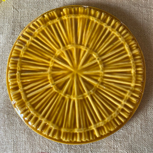 French vintage cheese serving plate in Vallauris style