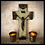 Thumbnail: Superb and substantial bronze and onyx crucifix