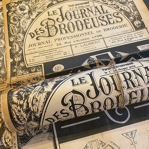1948 beautifully sepia aged Brodeuses journal