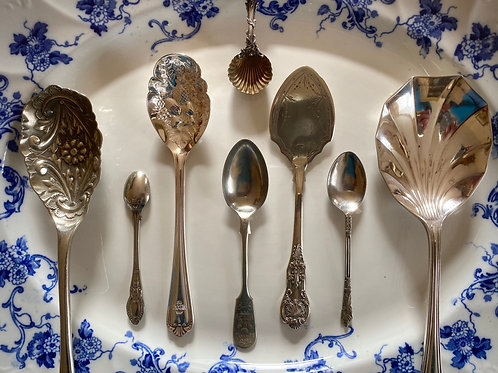 Silver plated vintage English flatware