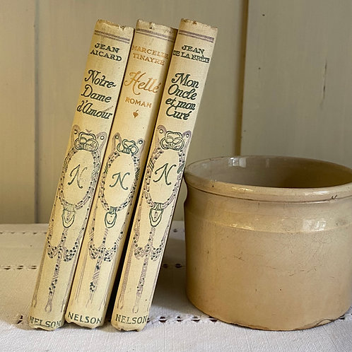 French attractive vintage book trios from 1930s