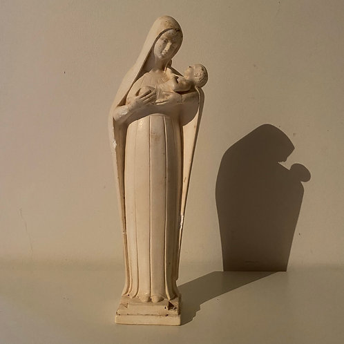 Art Deco French figurine of Virgin Mary