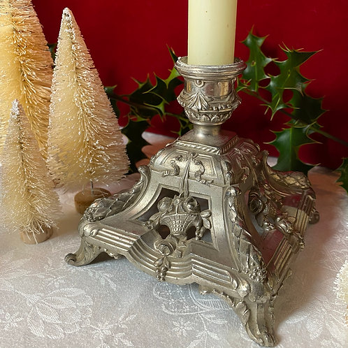 French ornate Empire style candlestick