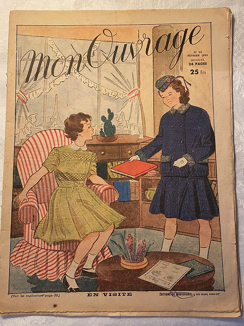 1953 Mon Ouvrage French women's magazine