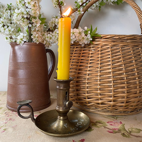 French antique brass chamberstick candle stick