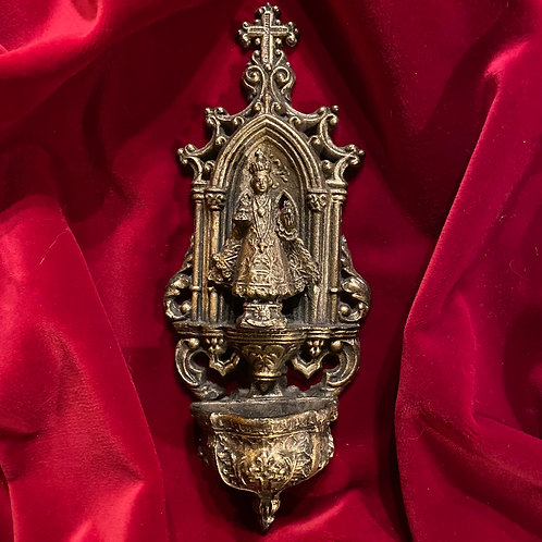 Gilded French antique benitier or Holy water font