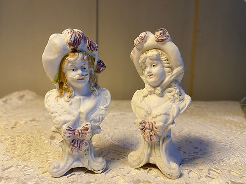 Bisque porcelain vintage French figurines cake toppers