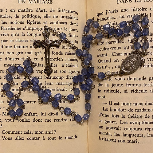Exceptionally beautiful blue glass rosary