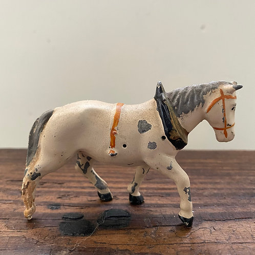 Antique French  lead horse toy for display