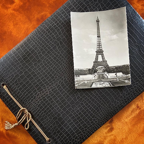 Photograph album with leather cover