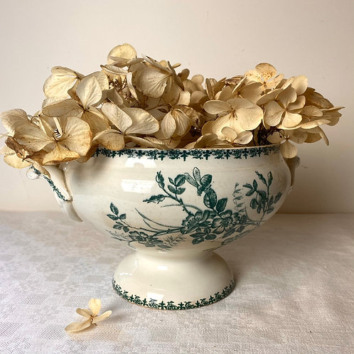 French antique ironstone soupière with fabulous patina