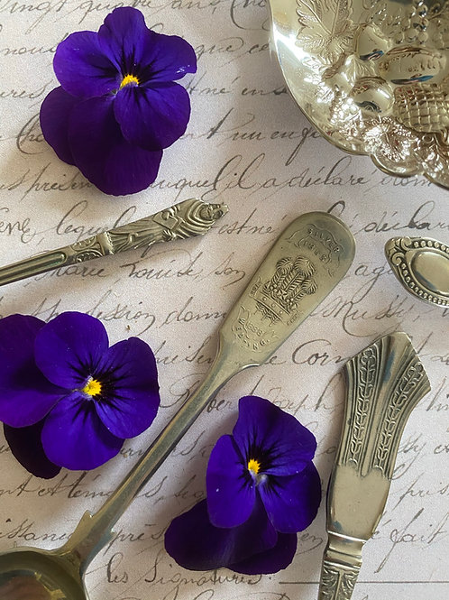 English silver plated vintage spoons
