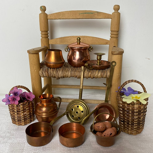Miniature French vintage copper collection
