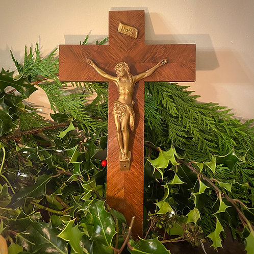 French revered vintage crucifix from family home