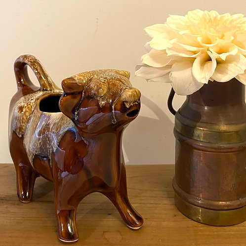 Vallauris style Normandy cow creamer jug