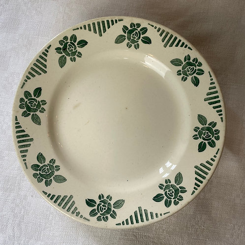 1930s French Ironstone footed cake plate