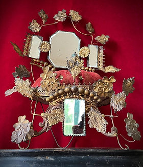 Antique French Wedding Couronne display stand