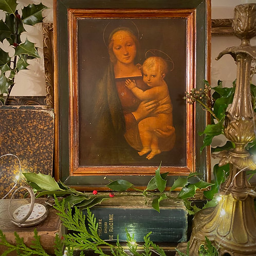 Religious picture Madonna and child