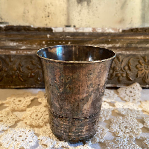 Beautifully patinated silver plated vintage French goblet