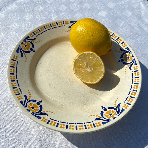 Deco French footed cake plate H.B.C Choisy-Le-Roi