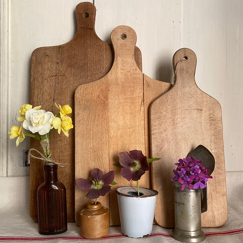 French vintage rustic chopping and serving boards