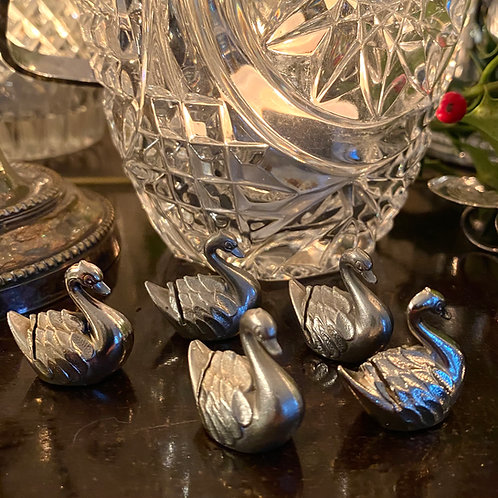 Swan place card holders sets of 6