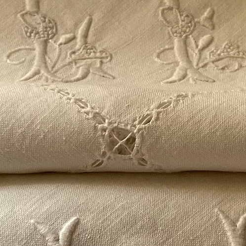 Antique pure linen napkins set of 6