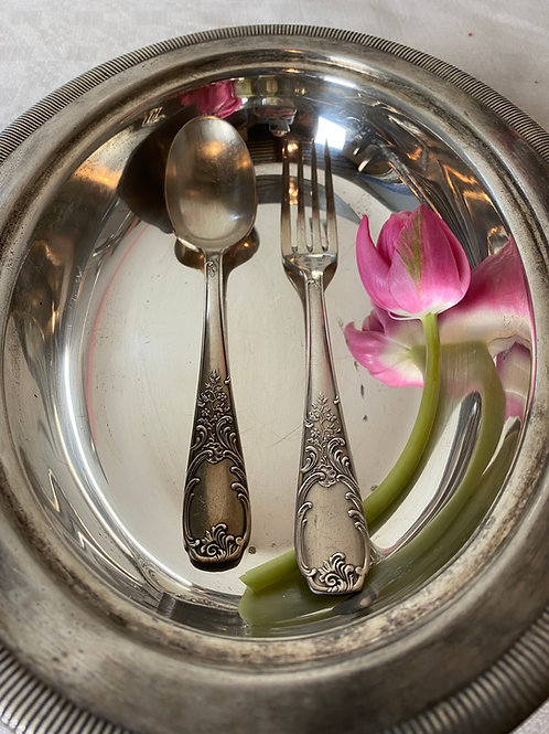 Beautifully ornate vintage  French flatware