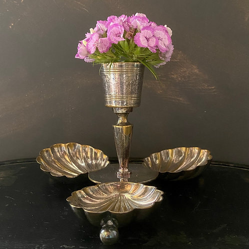 Silvered Patinated French vintage stand