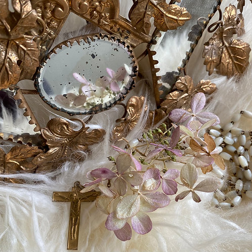 French bride's nacré vintage Chapelet or rosary