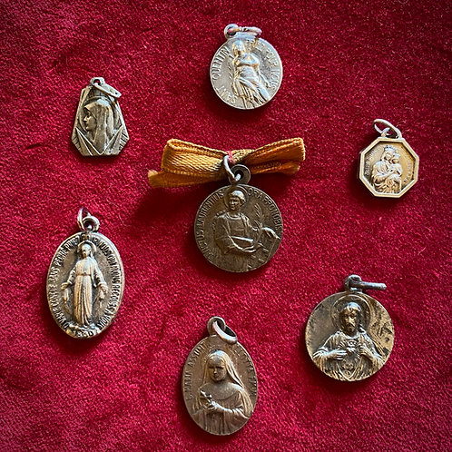Religious medals - French vintique