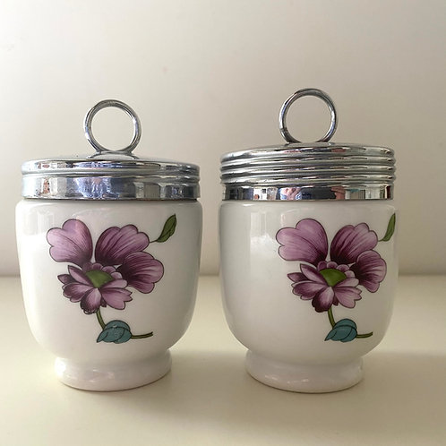 Pair of Royal Worcester large egg coddlers