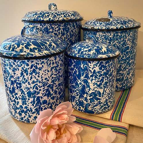 Enamel set of storage pots