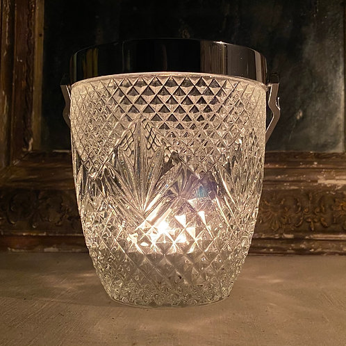 Vintage French ice bucket candle lanterns