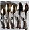 Thumbnail: Gloriously mis-matched vintage silvered spoons