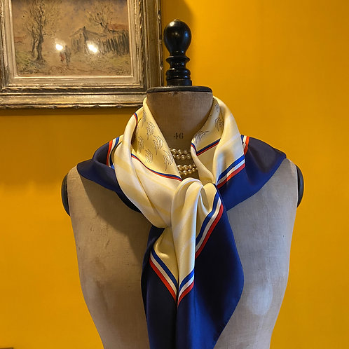 French silk scarf - foulard - 200th Anniversary of the French Revolution