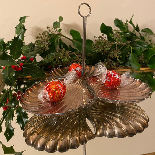 Silver plated serving stand