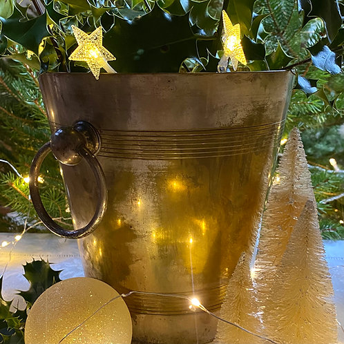 Timeworn silver plate champagne cooler bucket