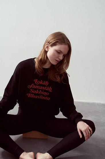 Lokah Sweater Black Bright Red