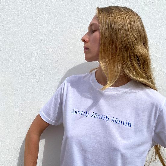 Shanti Shirt White Blue