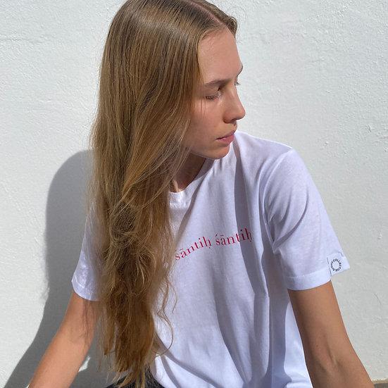 Shanti Shirt White Red