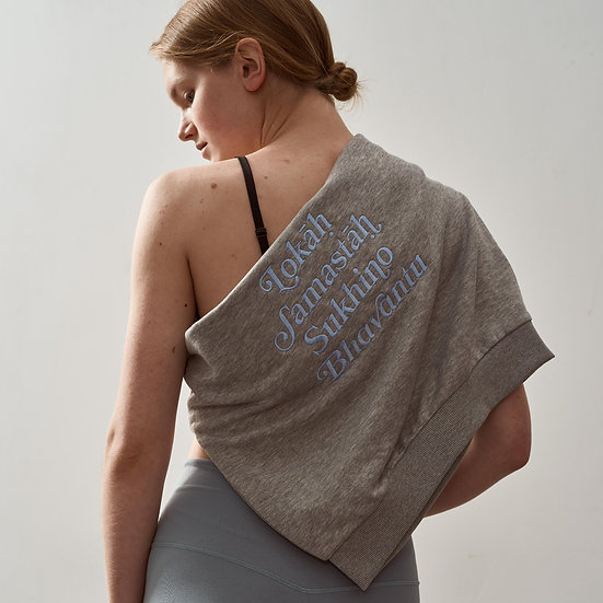 Lokah Sweater Grey Light Blue