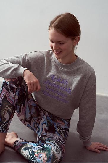 Lokah Sweater Grey Pale Purple