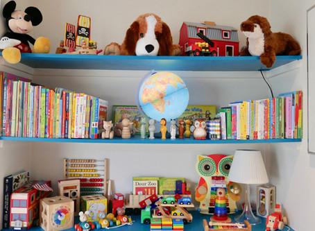 A detailed insight in to user friendly playroom storage.