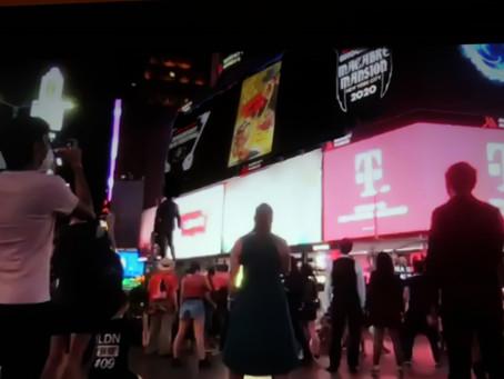 Rondo and Bob poster on Times Square 'Godzilla' board!