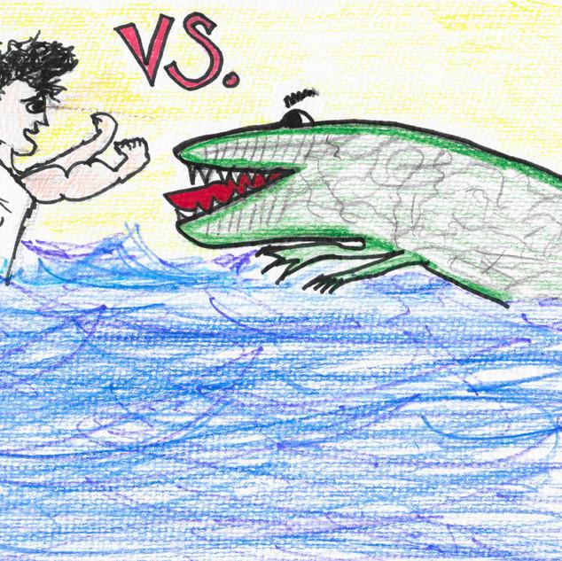 Tarzan and Croc wrestling in the river by Linda, 29.jpg