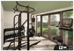 Internal Light Oak Gym French doors