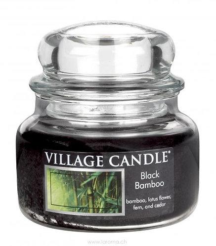 Black Bamboo11ozGlas(2-Docht)